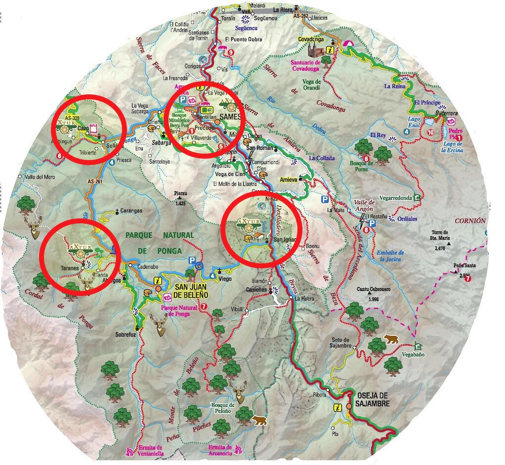 Mapa situación de Axtur
