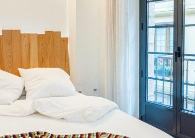 Apartamento en Oviedo detalle de la cama
