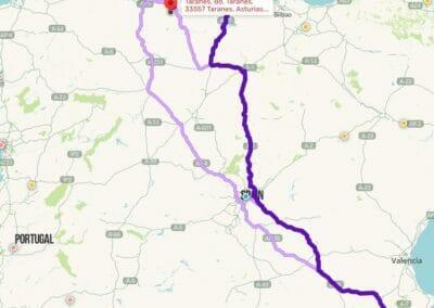 Como llegar a Taranes:Alicante-Taranes pasando por Madrid, 3 opciones.