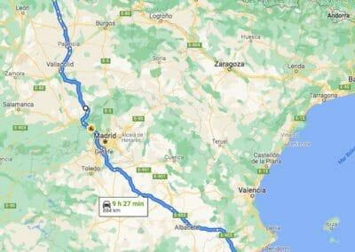Como llegar a Taranes:Alicante-Taranes pasando por Segovia