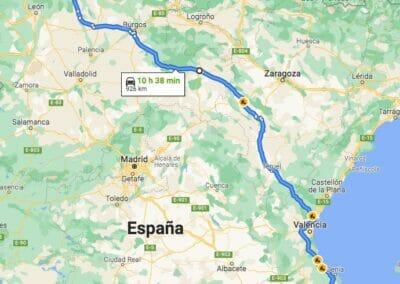 Como llegar a Taranes:Alicante-Taranes por Soria y Calatayud