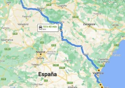 Como llegar a Taranes:Alicante-Taranes por Soria y Molina de Aragón