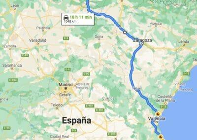 Como llegar a Taranes: Alicante-Taranes por Zaragoza y Bilbao